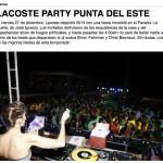Uruguay Lacoste party